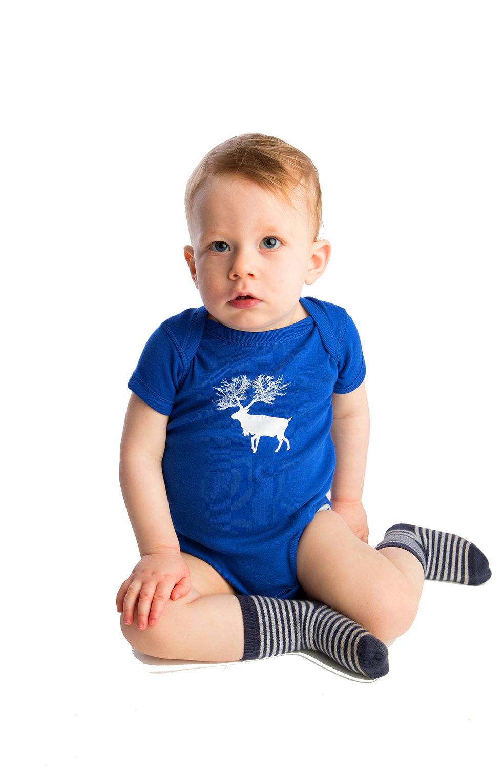 Caribou Baby One-piece Blue shower Gift ideas Boy