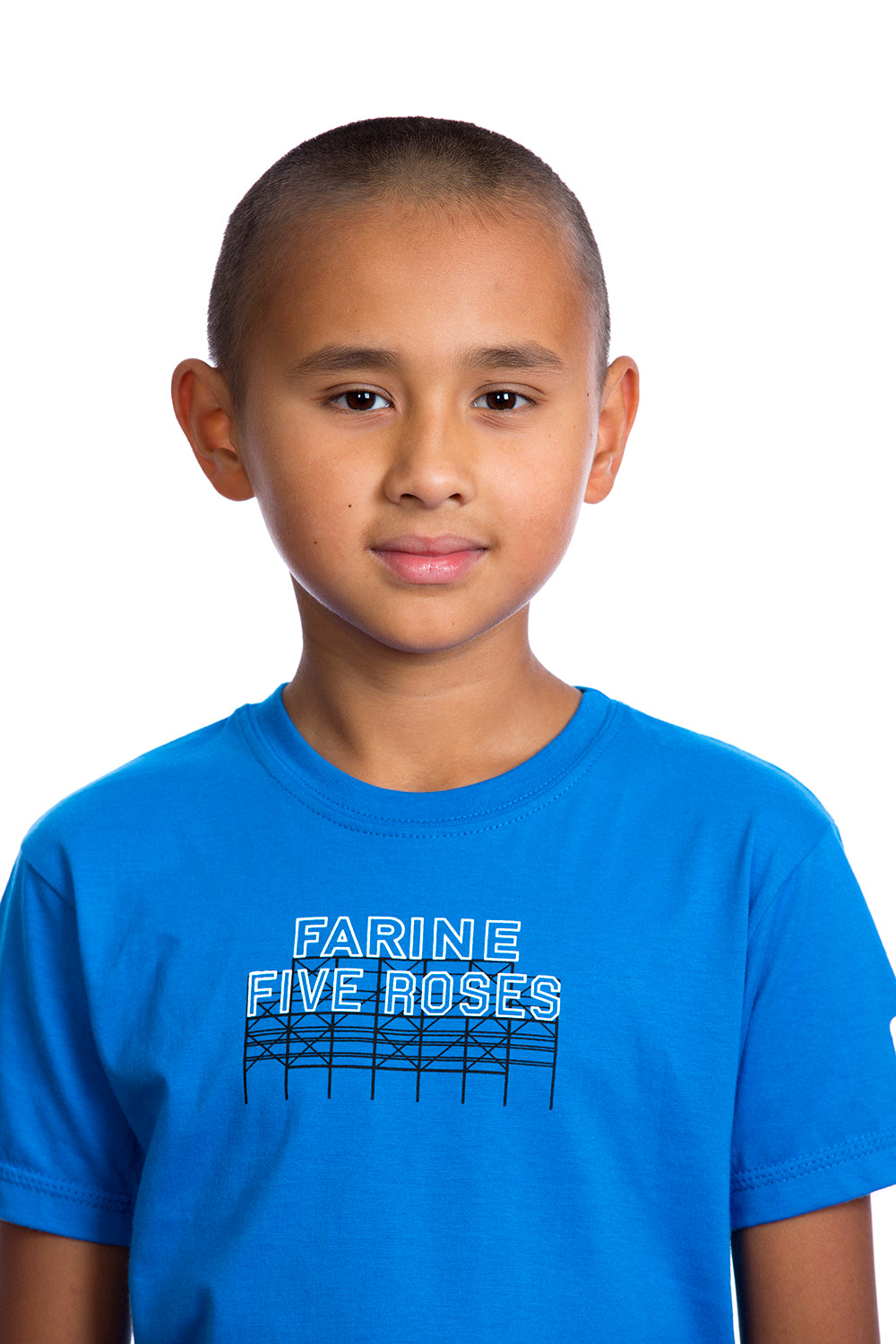 Kids Farine Five Roses Shirt Graphic Tee Tshirt | Organic Blue Bleu