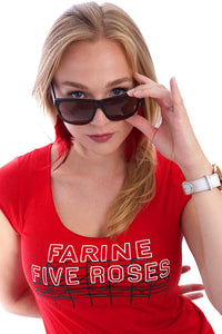 Montreal T-shirts Farine Five Roses Bamboo Red Rouge PLB