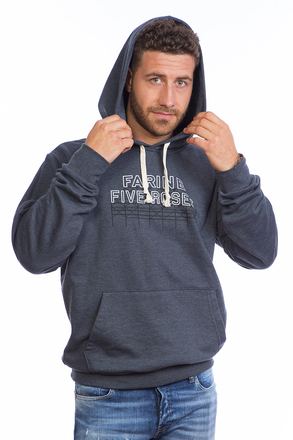 Hoodie Chandail Capuchon Farine Five Roses Montreal Kangourou. Made in Canada