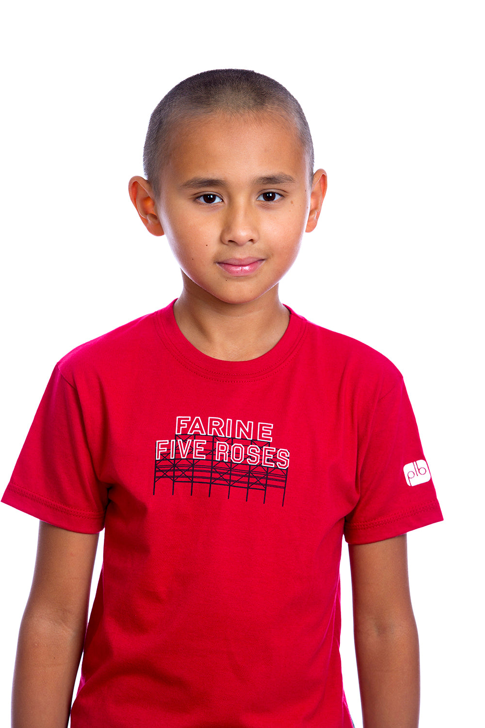 Kids Farine Five Roses Shirt Graphic Tee Tshirt | Organic Red