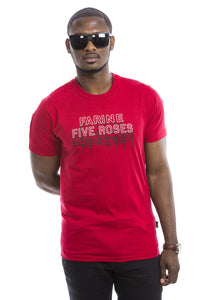 PLB Mens Farine Five Roses T-shirt - Rouge - Organic - Montreal - Canada