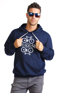 Navy Bicycles Hoodie