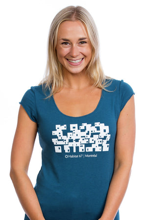 Habitat 67 T-shirt for Women | Bamboo | Made in Montreal by PLB, Canada