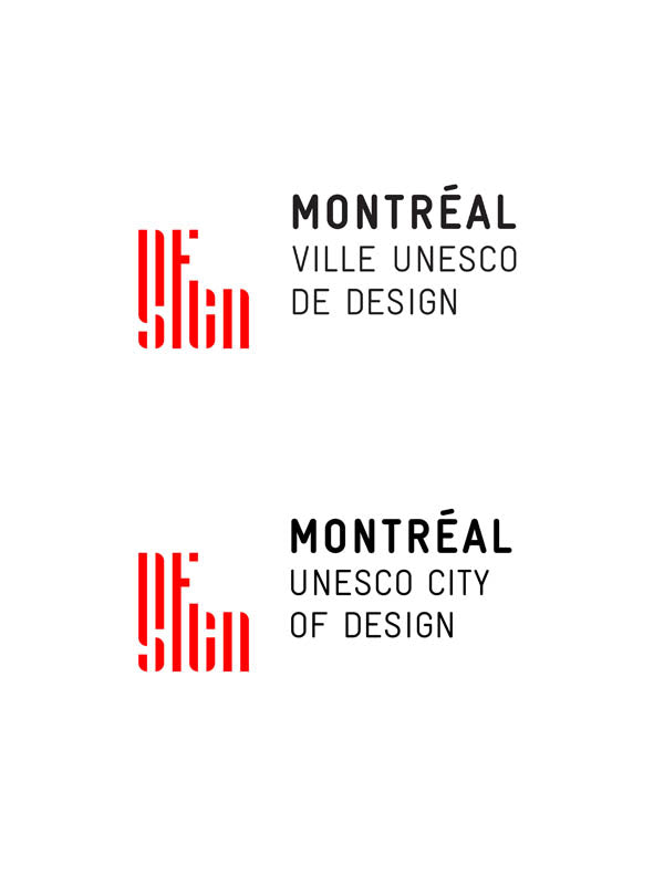 Montreal Ville Unesco de design Unesco city of design logo designer code souvenir