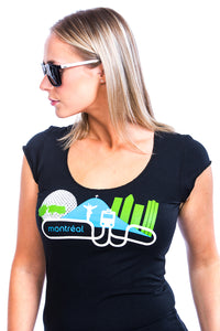 MTL Woman Montreal T-shirt Tee tshirt top PLB black local artisan made locally produced bamboo