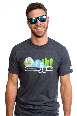 T-shirt Montreal Metro City Local Bio Tee Downtown I Love MTL PLB Camiseta Playera Padre Dad Gift Idea