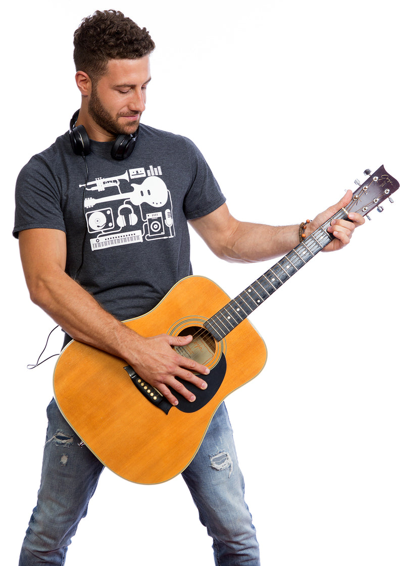 Music T-shirt tshirt Musique lover melomane instruments guitar guitare micro mode fashion moda microphone singer chanteur cantante piano