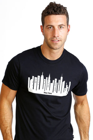 T- shirt Mens New York City T-shirt Organic cotton black white