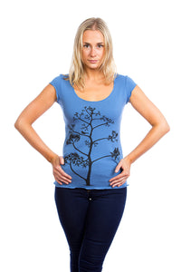 Buy this bamboo shirt with bird on a tree singing tentree lululemon