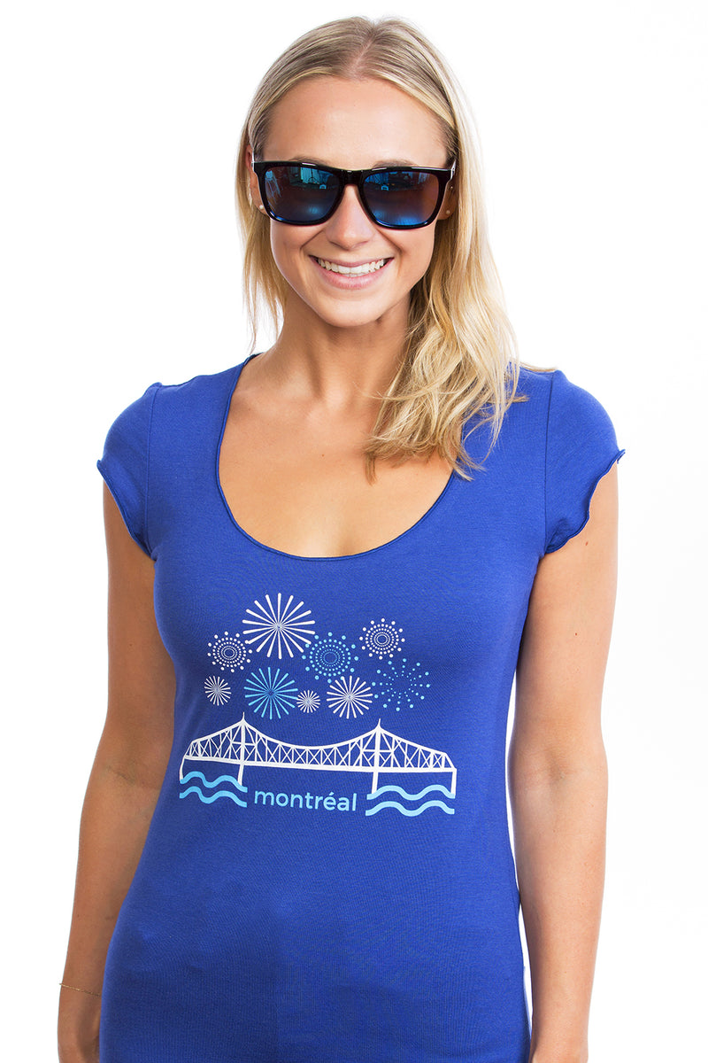Pont Jacques Cartier Tshirt Montreal pour femme bambou bamboo
