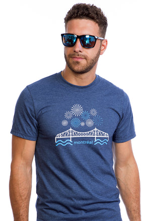 T-shirt Pont Jacques-Cartier  | Fireworks | Montreal | Organic | Awesome