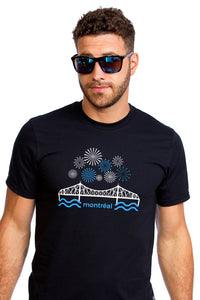 Jacques-Cartier Bridge T-shirt | Fireworks | Montreal | Organic | Awesome