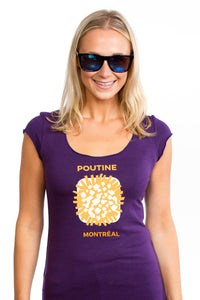 Women Poutine T-shirt Femme Quebec Canada Montreal