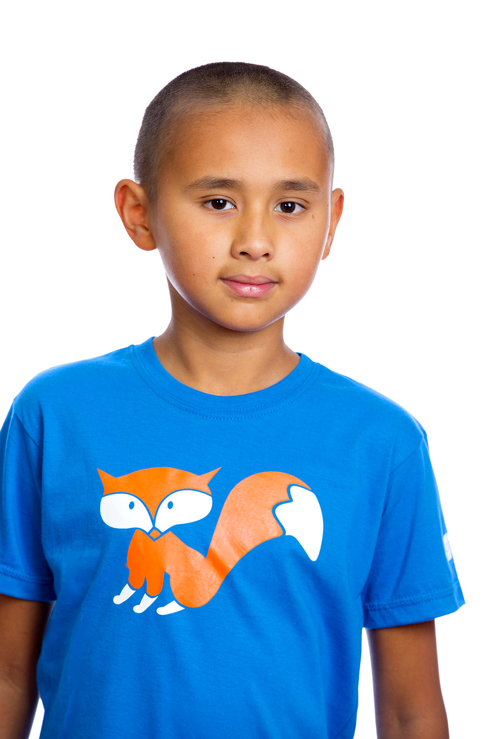Kids Fox Shirt Graphic Tee Baby Tshirt | Organic | Made in Canada Blue Bleu