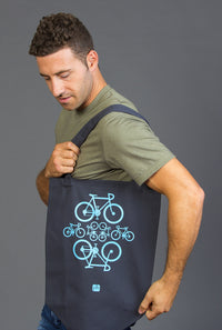 Bike tote bag shopping canada 100 cotton