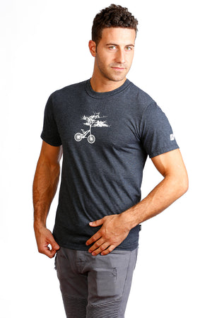 Tree Cycle T-shirt PLB bicycle velo bici gray organic men cute arbre bike