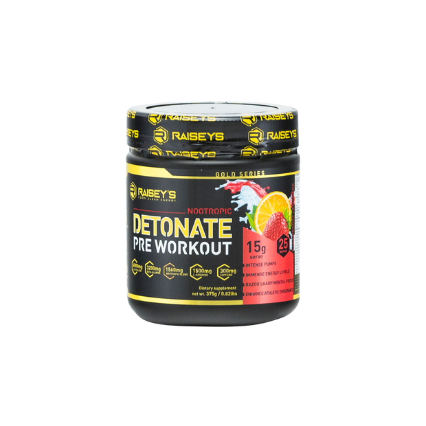 DETONATE Nootropic Pre-Workout Supplement 375g