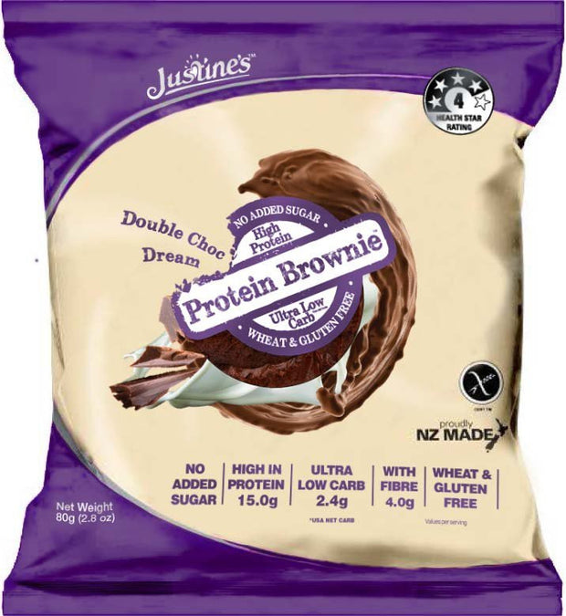 Justines Protein Brownie - Double Choc 80g