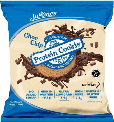 Justines Protein Cookies - Choc Chip 64g