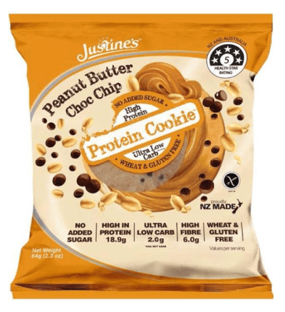 Justines Protein Cookies - Peanut Butter Choc Chip 64g