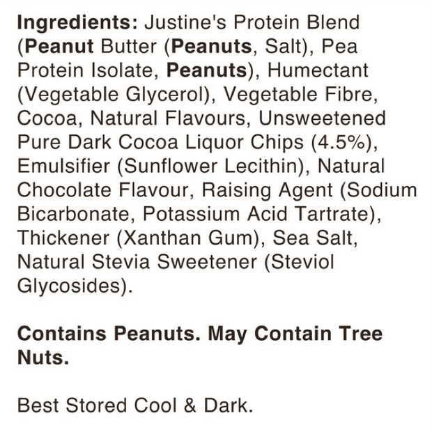 Justines Vegan Protein Cookies - Nutty Chocolate 85g