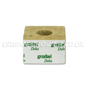 Rockwool Cube - 3 Inch Large-Hole - Urban Grower Hydroponics