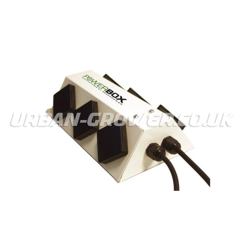 Green Power 6-Way Powerbox - 2 x 13 amp Power Distribution Unit (White) - Urban Grower Hydroponics
