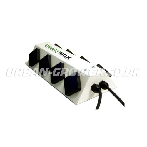 Green Power 8-Way Powerbox - 2 x 13 amp Power Distribution Unit (White) - Urban Grower Hydroponics