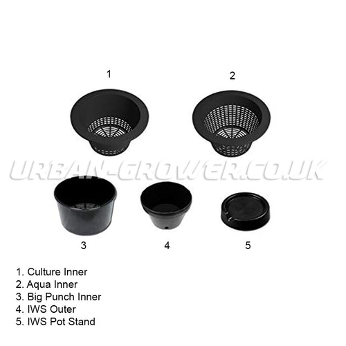 IWS Flood & Drain Pots, Stands and Outers - Urban Grower Hydroponics