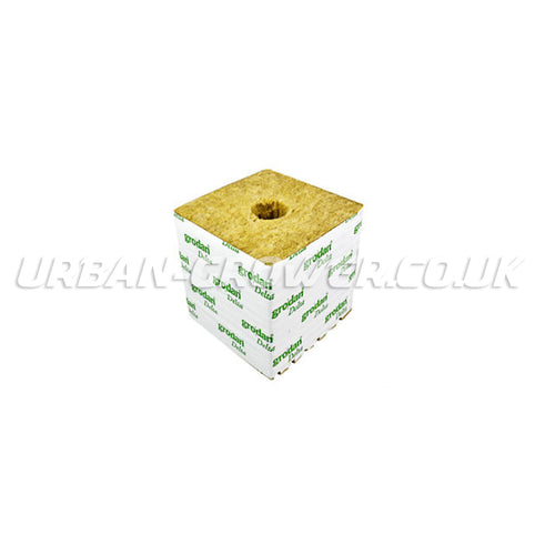 Rockwool Cube - 6Inch Large Hole Hugo Block - Urban Grower Hydroponics