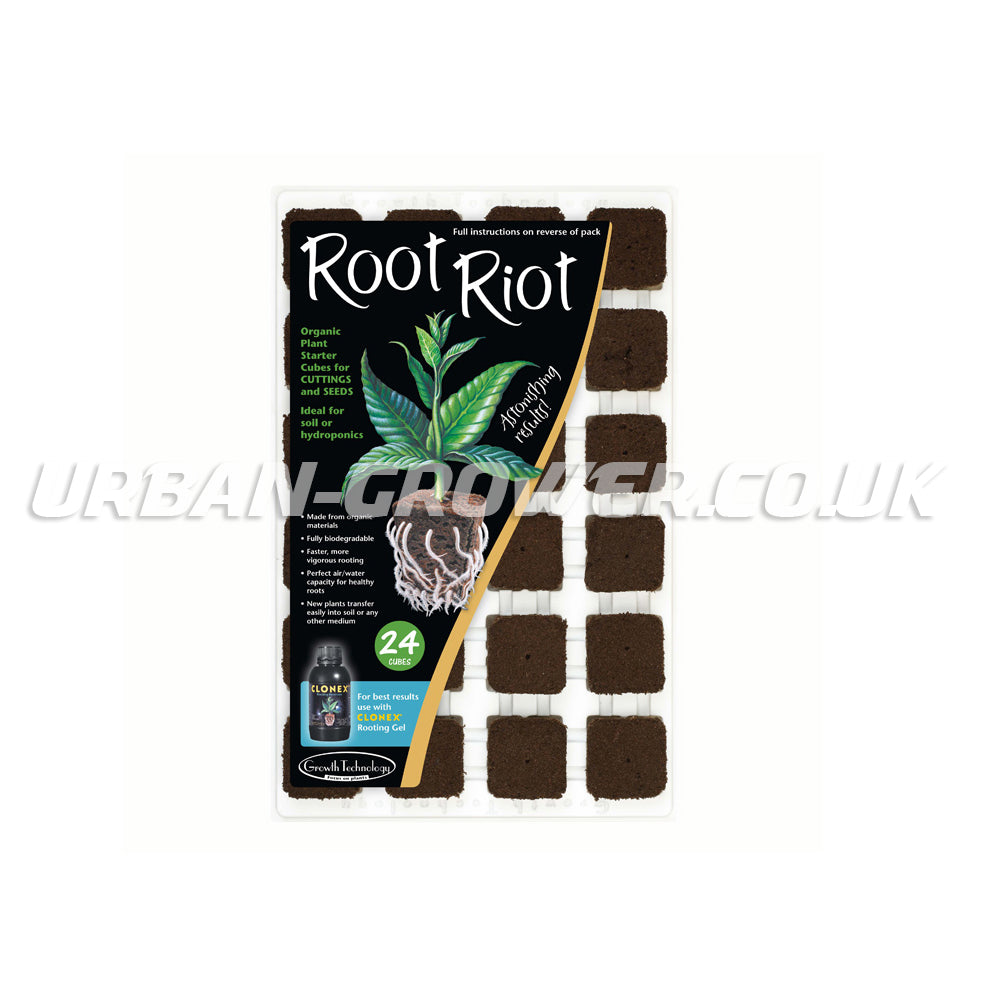 Root Riot - 24 Cube Tray - Urban Grower Hydroponics