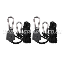 Load image into Gallery viewer, CarboAir Rope Ratchet Hangers (Pair) - Urban Grower Hydroponics