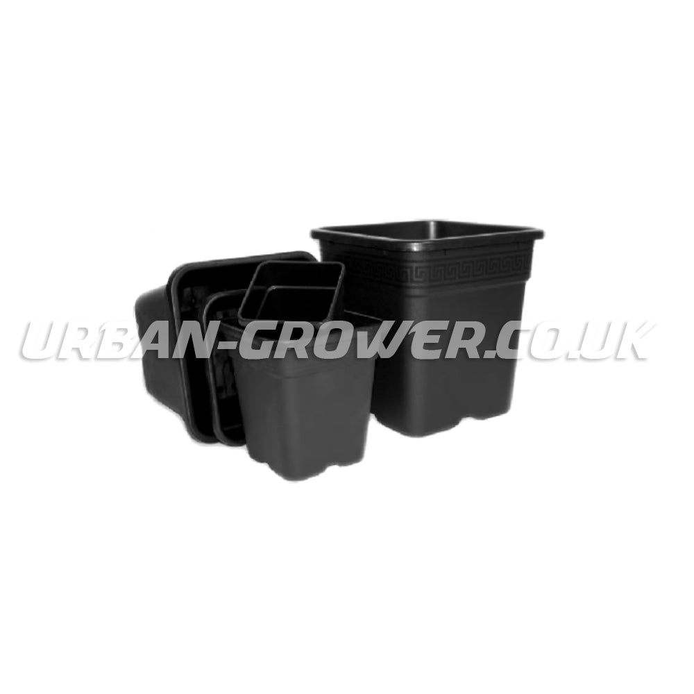 Square Pots - 11, 18 & 25 Litre - Urban Grower Hydroponics