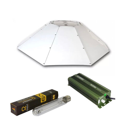 Omega 600w Horizontal Parabolic Digi Pro Kit - Urban Grower Hydroponics