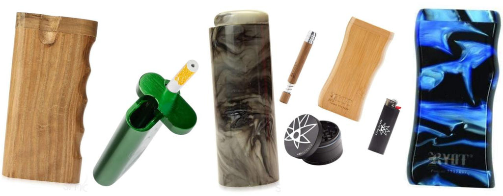 Smokey the Bear Dip Can One Hitter Dugout with Poker and FREE Aluminum One Hitter