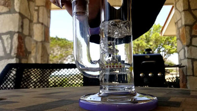 How much water to put in a bong for the best hit