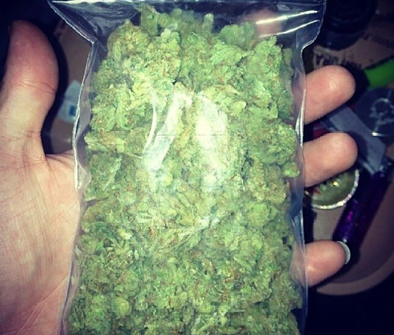 An ounce of weed, image from Cloud Cadet 420 on Instagram