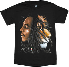 Bob Marley Lion Profile Adult T-Shirt