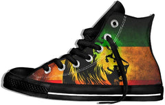 Bob Marley Pipeline Shoes Rasta Lion Casual Mens Lace up