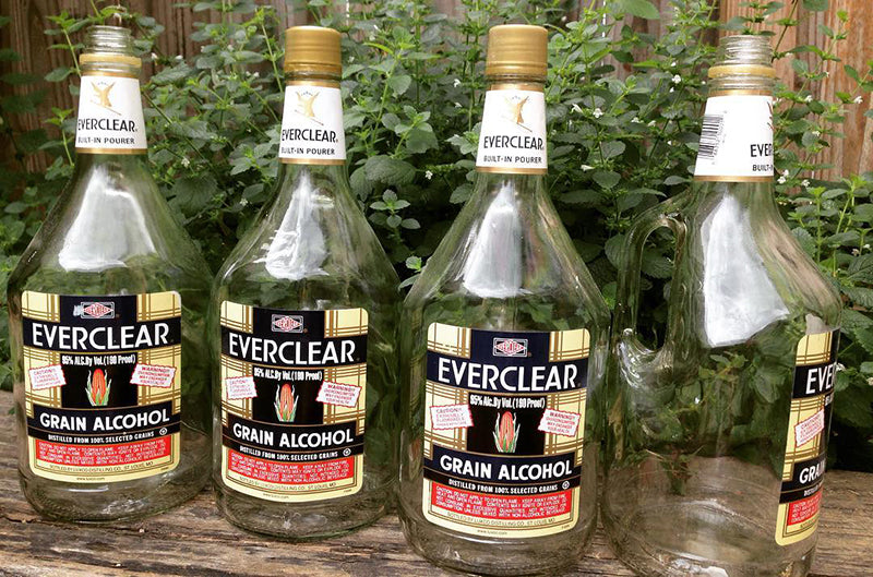 Bottles of Everclear, image from  Atticapothecary on Instagram