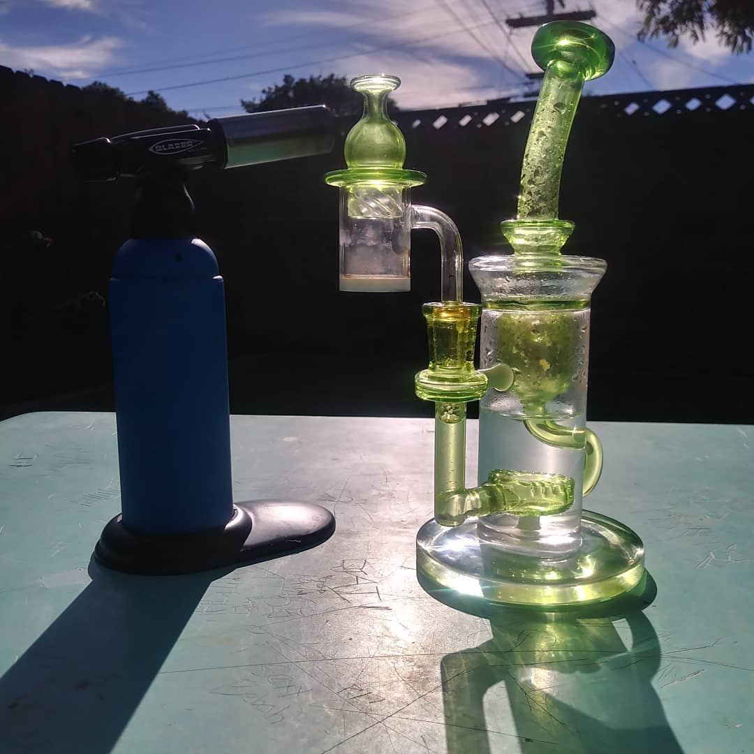 Dab equipment - dab rig and torch_, image from Multa Player on Instagram