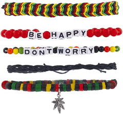 Don't Worry, Be Happy 5-piece Bracelet Set