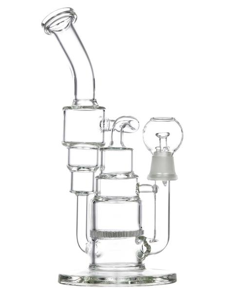 Double Recycler Dab Rig with Honeycomb Perc