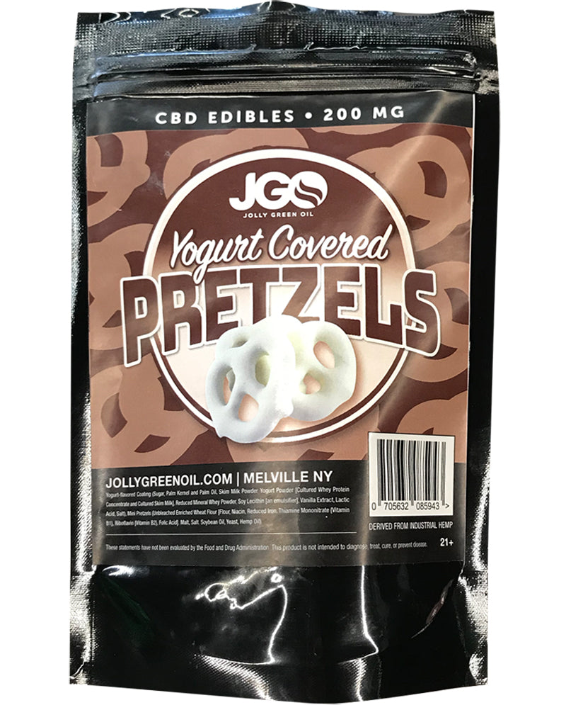 JGO CBD Yogurt Covered Pretzels 200MG
