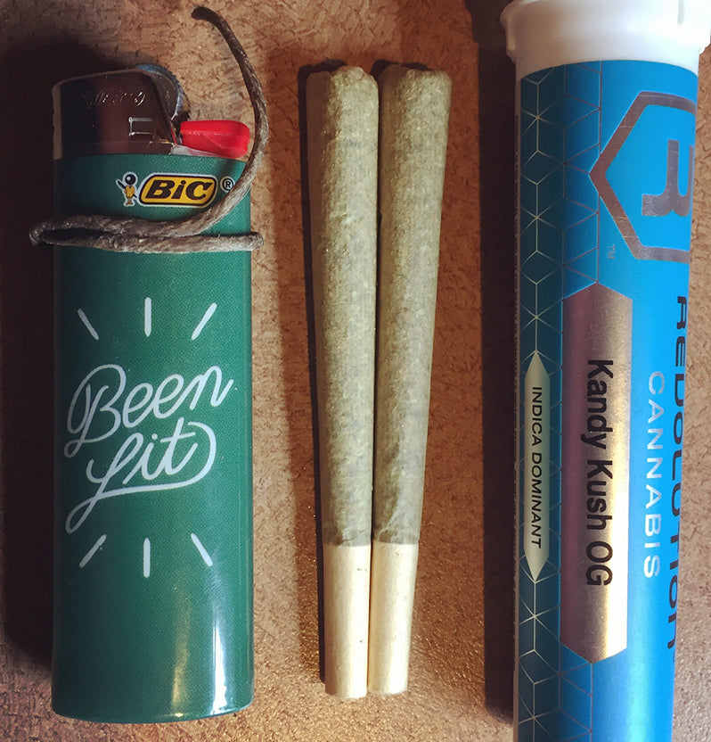 Kandy Kush OG or Candy OG prerolled joints, image from Anna Commenter on Instagram