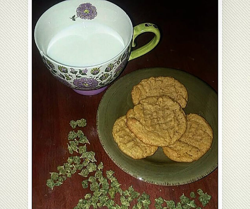 Milk, cookies and weed; image from Your Night Flower on Instagram