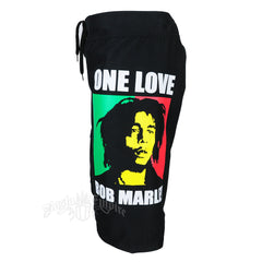 One Love Bob Marley Shorts