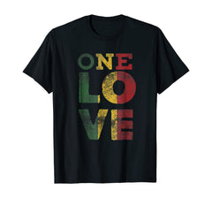 One Love T Shirt Rasta Reggae Men