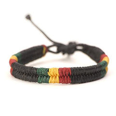 Plaited Leather Bob Marley Bracelet